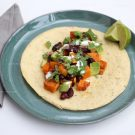 Taco's met pompoen en kidneybonen