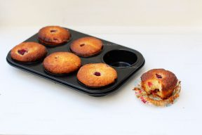 Lemon curd muffins met frambozen
