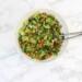 Maaltijdsalade met kikkererwten en broccoli